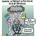 Hollande, un président mouillé