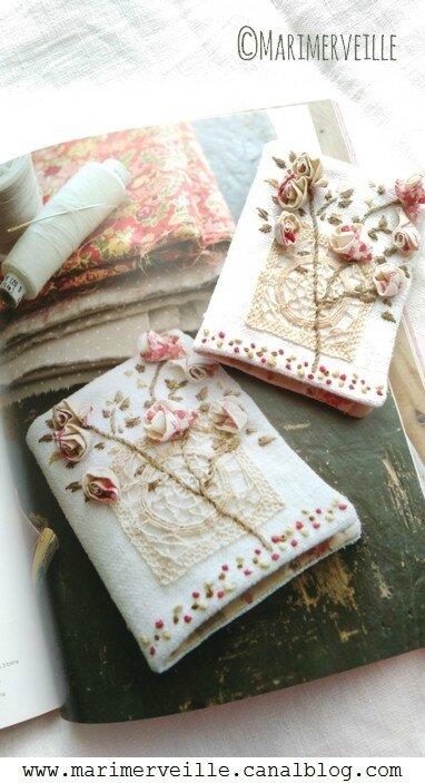 Carnet aux roses marimerveille crée pour mon livre trésors chinés