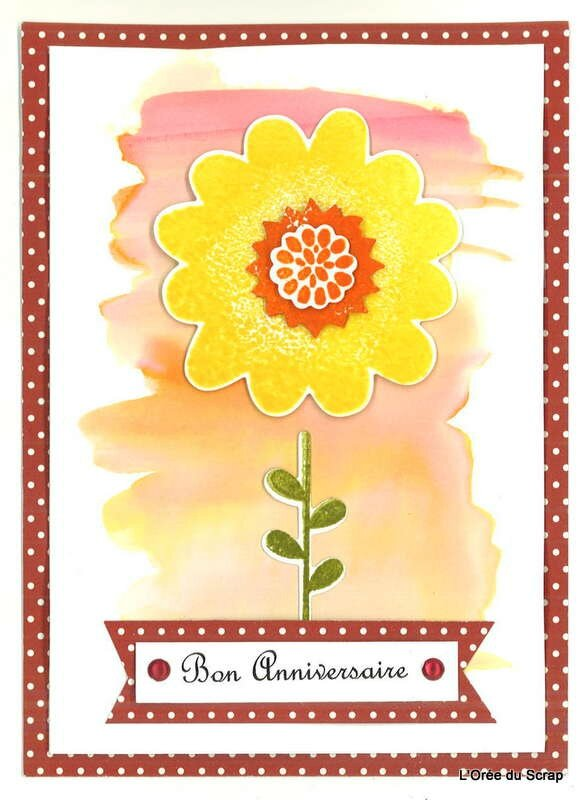 carte scrap flower stampin up1