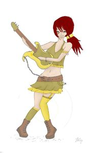 rockeuse jaune