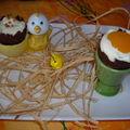 Oeufs de pâques à la mousse au chocolat blanc présentés en coquetiers + ma table de pâques