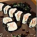 Maki sushi de pomme de terre