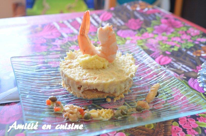 Timballe de crabe à la bisque de homard