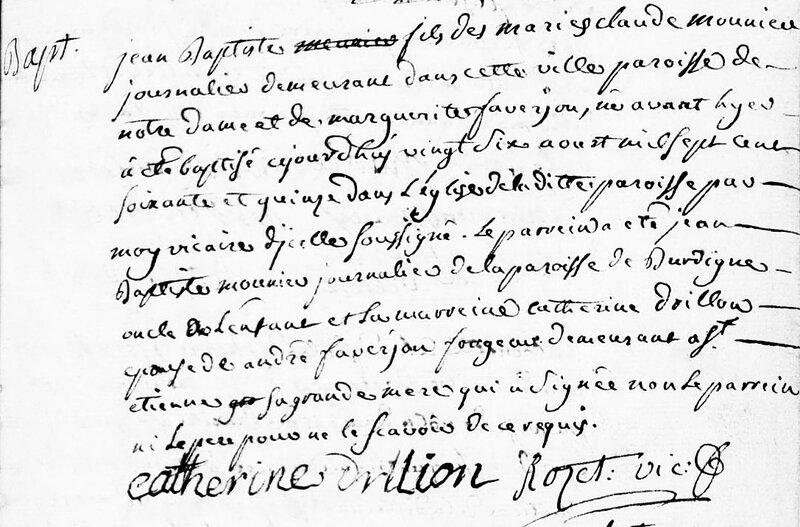 naissance Jean-Bpatiste Monnier 24 août 1775