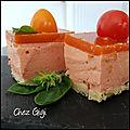 Bavarois tomate basilic, gelée de gaspacho