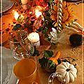 Table thanksgiving à la lueur des bougies.....