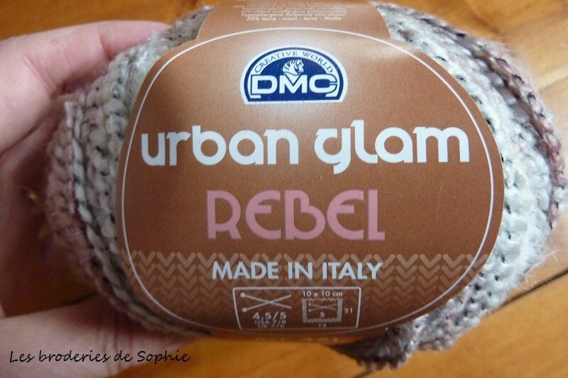 Couverture laine Urban glam rebel DMC (3)