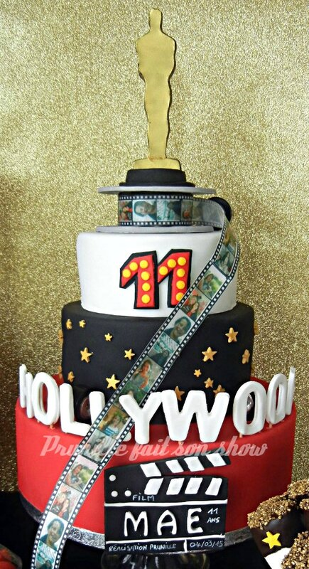 gateau 3 etages hollywood prunillefee