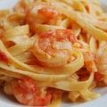 Linguines aux tomates fraîches et scampis