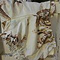 Culotte BIANCA en satin de coton fleuri chocolat sur fond écru - noeud vichy chocolat (3)