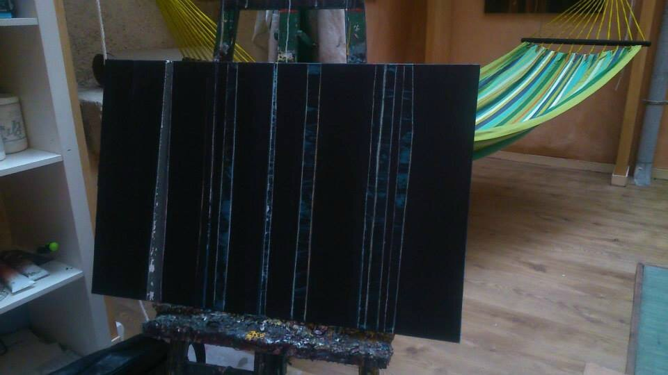Forêt #56, 2014, acrylique sur toile, 97 x 73 cm