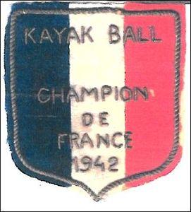 écusson champion de France polo 1942