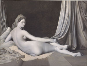 Ingres_Odalisque_in_Grisaille