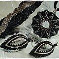 Parure black & silver III