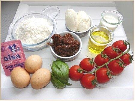 cake tomates, mozzarella, basilic1