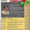 La gazette de décembre