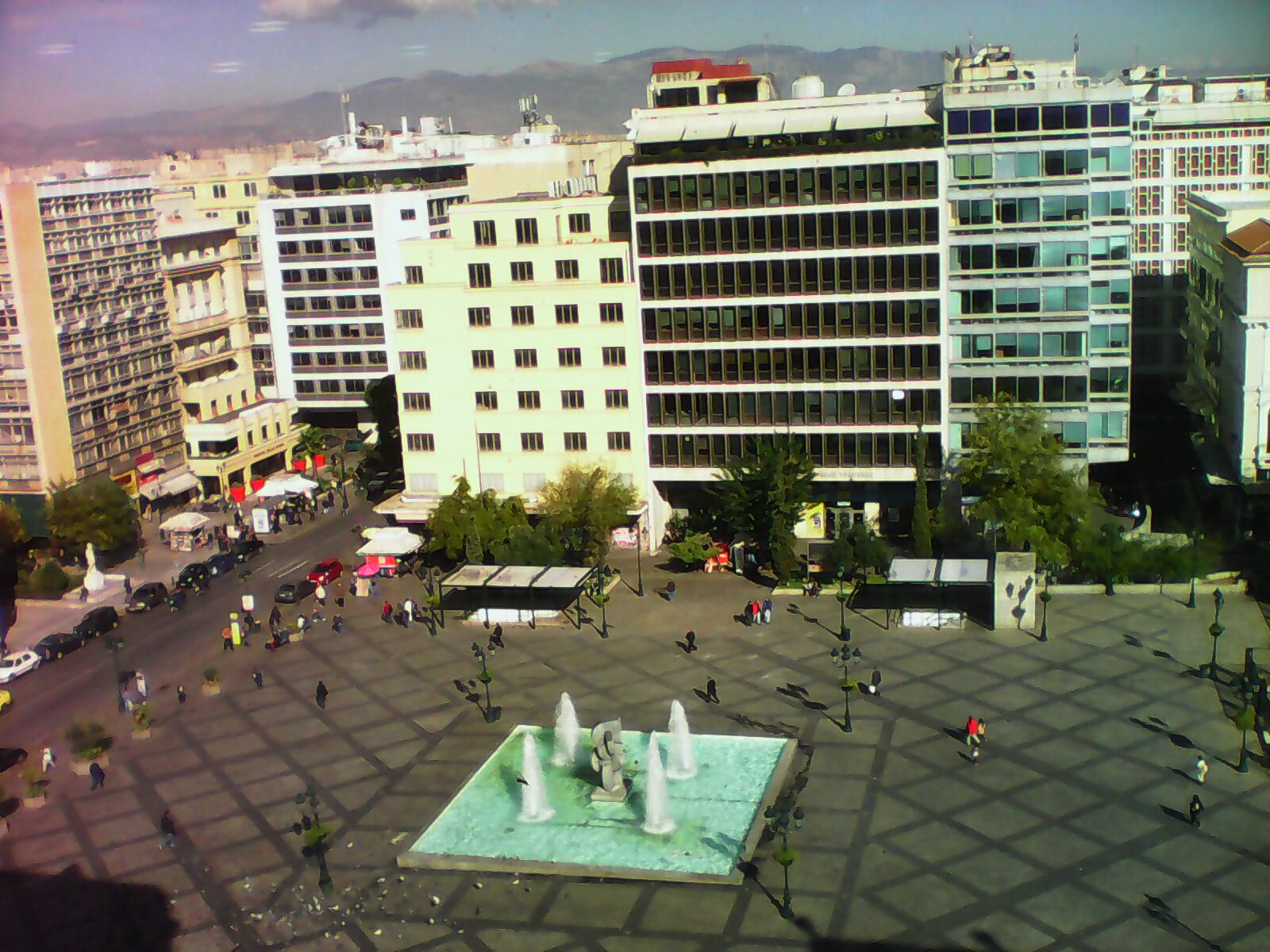 Scene de rue au centre d'Athènes