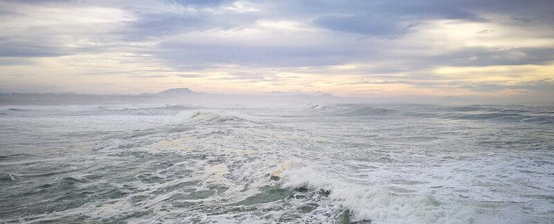 Anglet, La Barre, océan et Rhune, février 19 (64)a