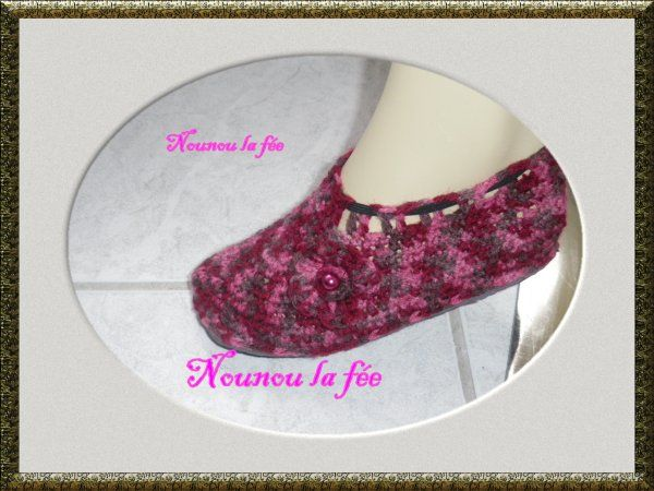 Chaussons multicolore femme (taille 36 )
