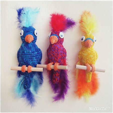 Perroquet au crochet 2