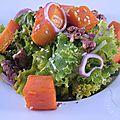 Salade de chou kale à la butternut et aux noix