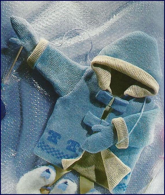 Modèle de manteau doublé en jersey aiguilles N°3