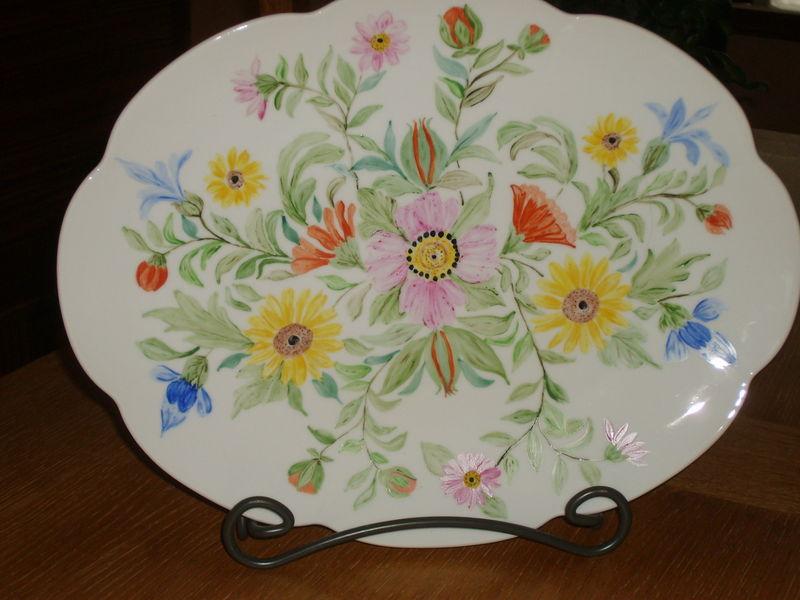plat aux fleurs