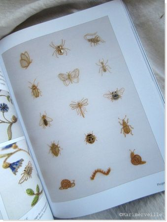 page insectes 2 broderie d'or