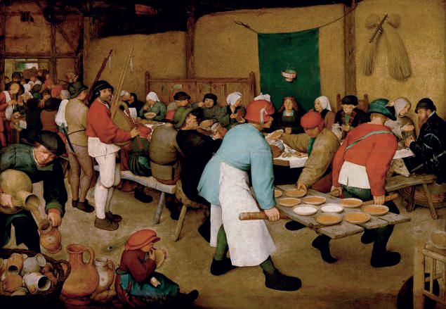 Pieter Bruegel I, The Wedding Feast, Kunsthistorisches Museum, Vienna