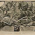 Vanitas with Skeleton Death Is the Wages of Sin, Michel Mosin after Jean-Baptiste Corneille, ca