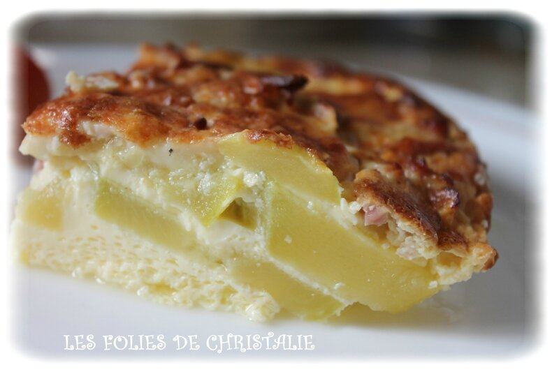 Flan courgettes 1
