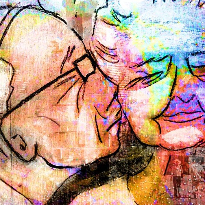 Toute une vie, Digital Art sur Alu brossé, 1 m x 1 m