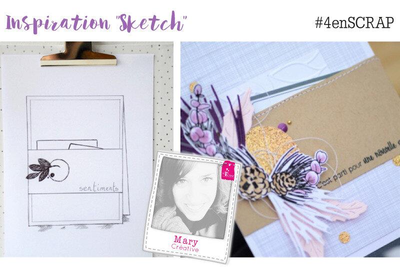 inspiration sketch 4enscrap Mary