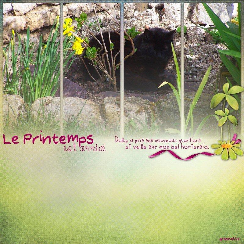 template rohanna printemps arrivé