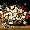 Osias beert the elder (1580 – 1624), three 'basket of flowers', circa 1610, 1615, circa 1620
