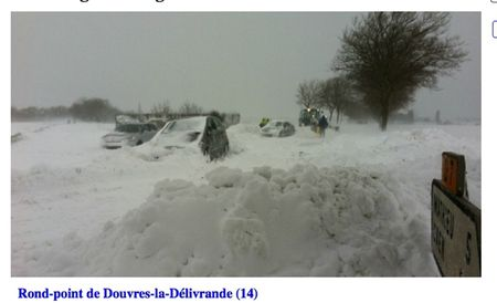 rond point douvres neige