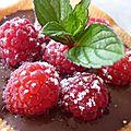 Tartelettes chocolat-framboises
