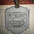 Anciennes pages tableaux chiffres & etiquette & pince a rideaux
