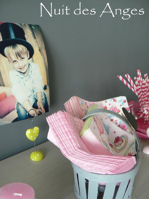 Nuit des anges décoratrice décoration de table baptême rose et gris 023
