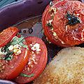 Tomates rôties à la feta