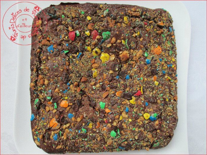 brownies aux m&m's 2