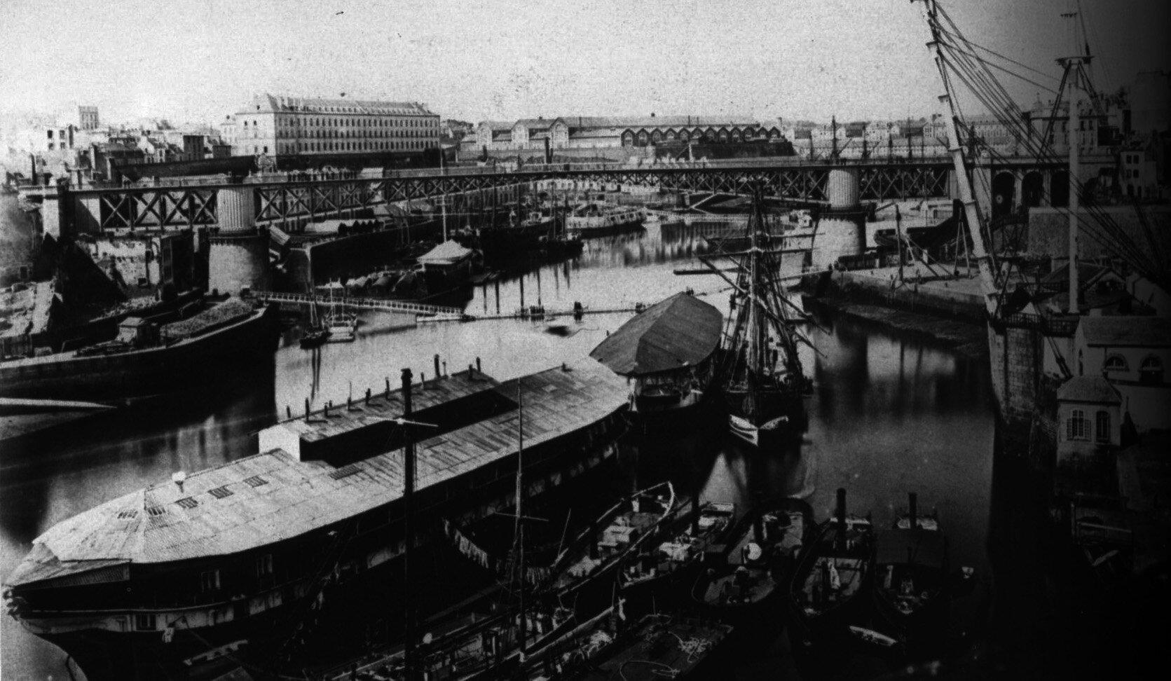1852-1870 Le port de Brest agrandi