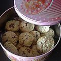Cookies banane flocon d avoine et pralinoise