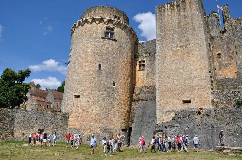 46 randonneurs à l'assaut du château