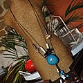Sautoir fil coton graine ivoire vegetal coco corne réf cot1162b