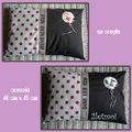 DUO COUSSIN CHAPERON Marron copie