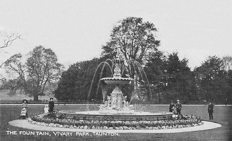 somerset, taunton, vivary park in the mid 1910s