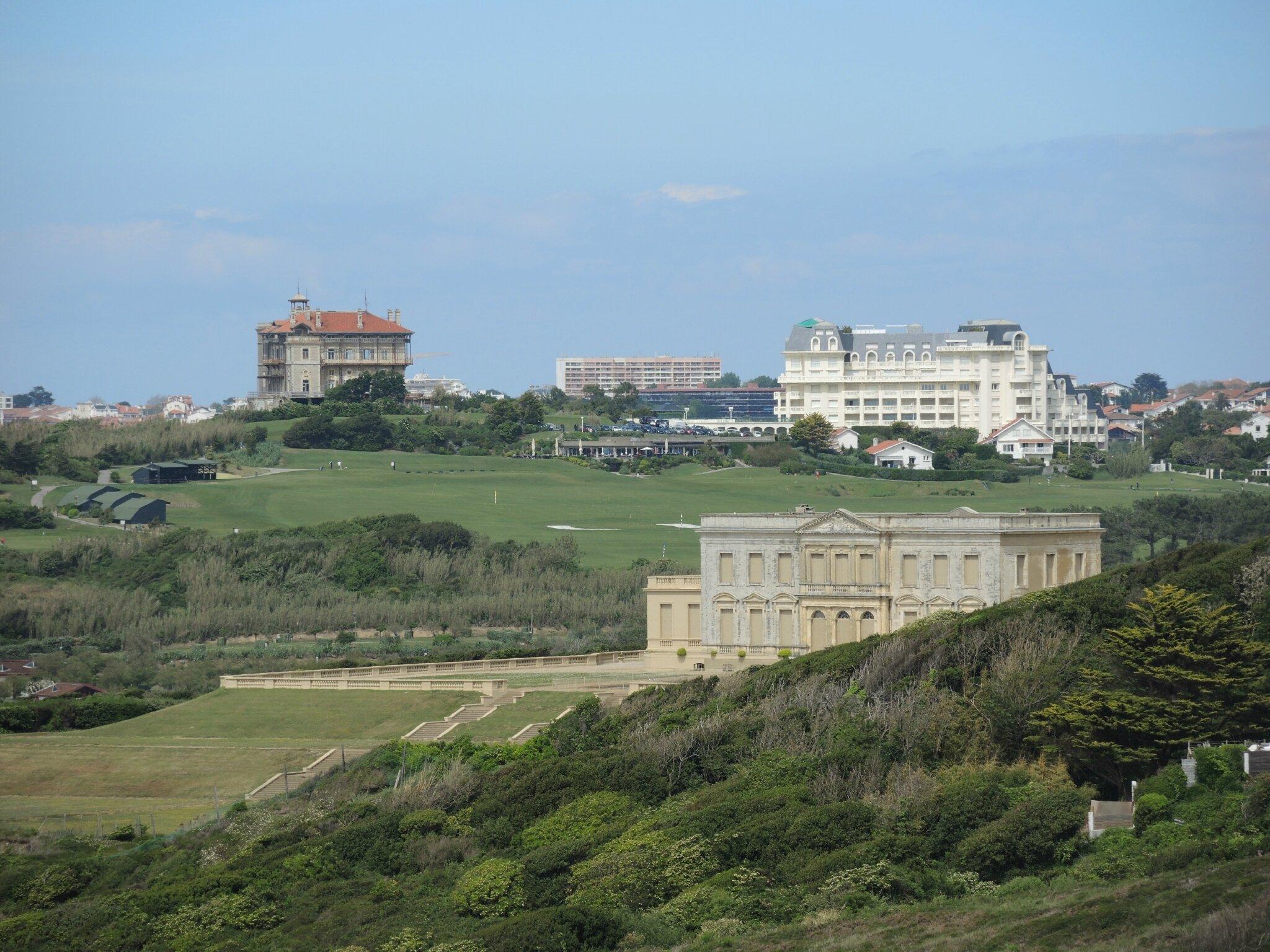 Bidart, vue sur le château d'Ilbarritz et le pavillon royal (64)