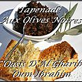 Tapenade aux olives noires. france