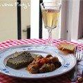 Terrine de caviar d'aubergines et champignons à la grecque
